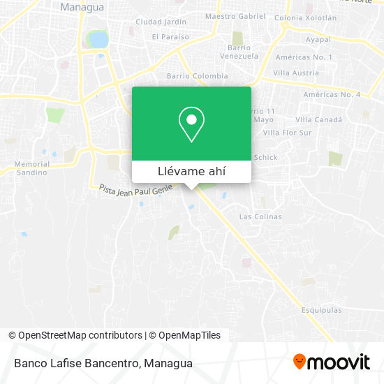 Mapa de Banco Lafise Bancentro