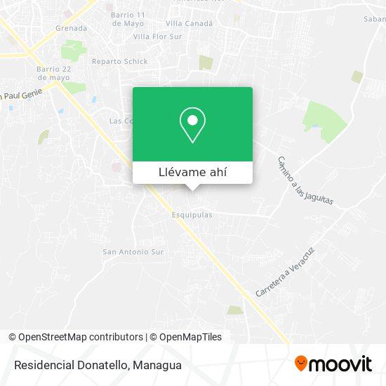 Mapa de Donatello Residencial