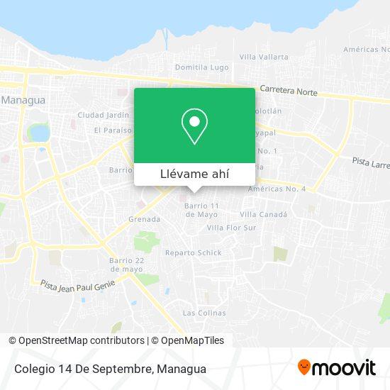 Mapa de Colegio 14 De Septembre