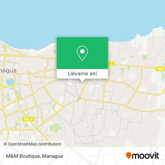 Mapa de M&M Boutique