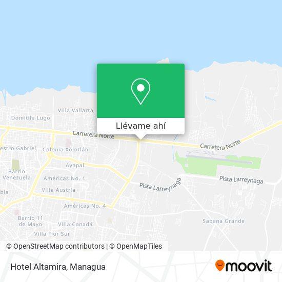 Mapa de Hotel Altamira