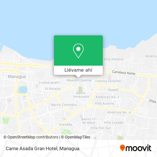 Mapa de Carne Asada Gran Hotel