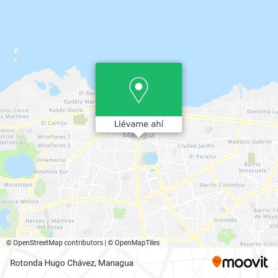 Mapa de Rotonda Hugo Chávez (Plaza Inter)