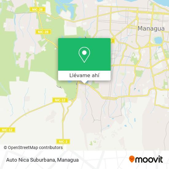 Mapa de Auto Nica Suburbana