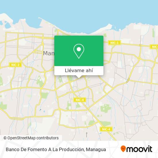 Mapa de Banco De Fomento A La Producción