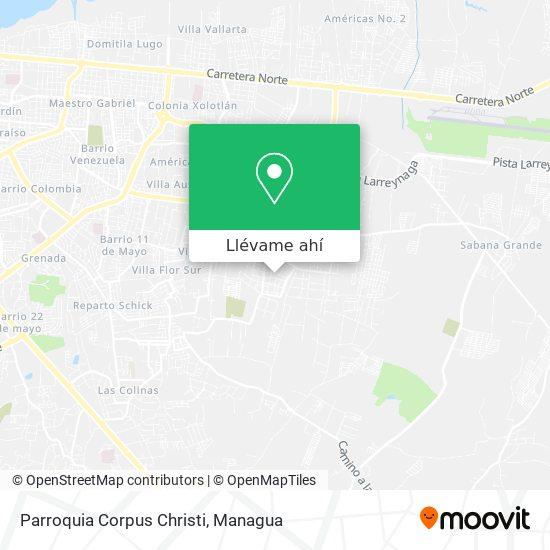 Mapa de Parroquia Corpus Christi