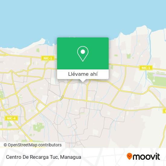 Mapa de Centro De Recarga Tuc