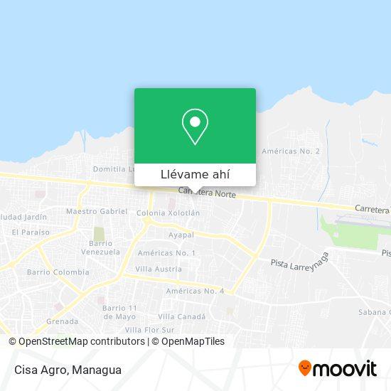 Mapa de Cisa Agro
