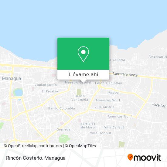 Mapa de Rincón Costeño