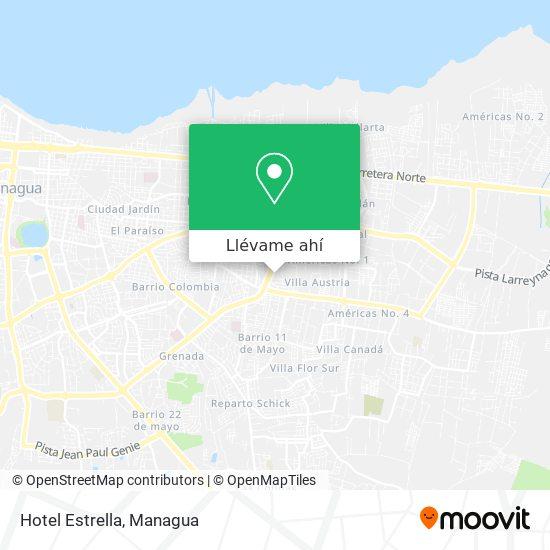 Mapa de Hotel Estrella