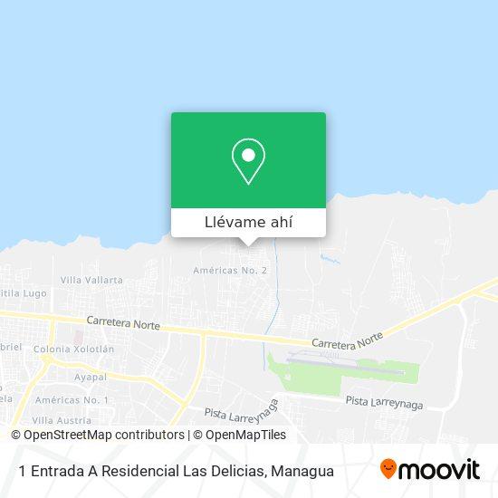 Mapa de 1 Entrada A Residencial Las Delicias