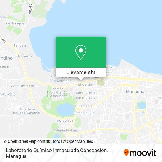 Mapa de Laboratorio Químico Inmaculada Concepción