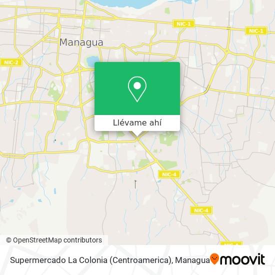 Mapa de Supermercado La Colonia (Centroamerica)