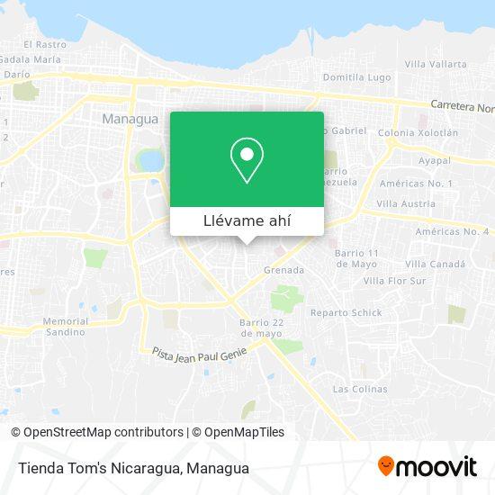 Mapa de Tienda Tom's Nicaragua