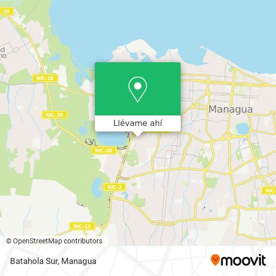 Mapa de Batahola Sur