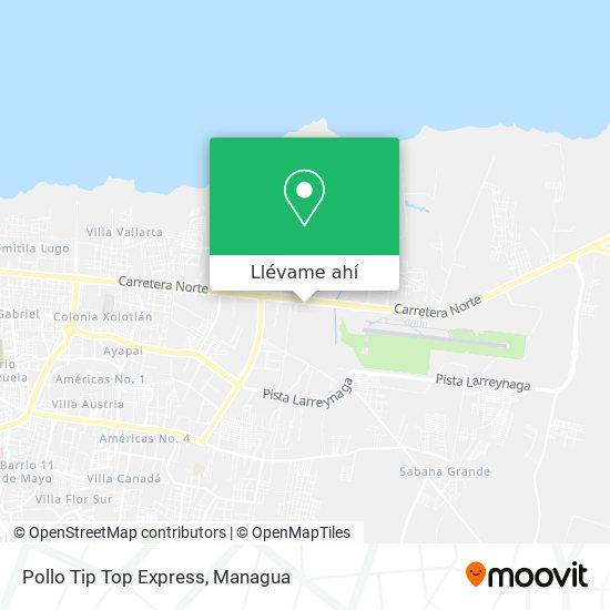 Mapa de Pollo Tip Top Express