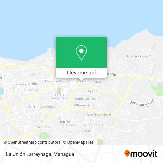 Mapa de La Unión Larreynaga