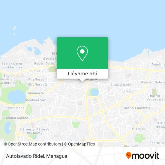 Mapa de Autolavado Ridel