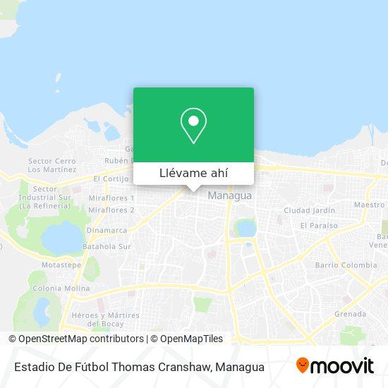 Mapa de Estadio De Futball Thomas Cranshaw