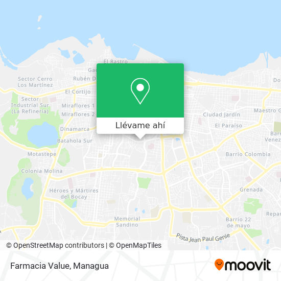 Mapa de Farmacia Value