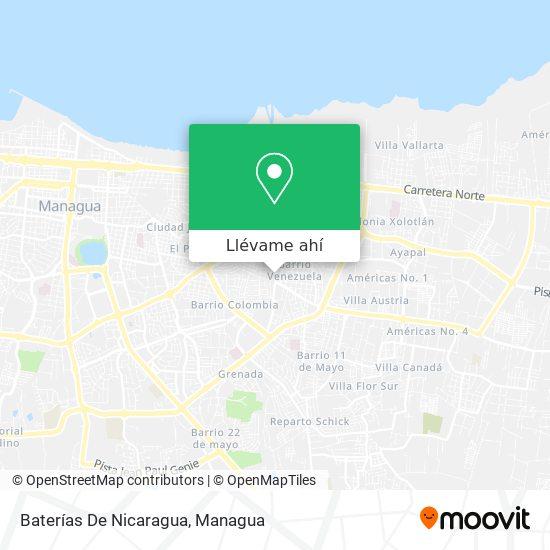 Mapa de Baterias De Nicaragua