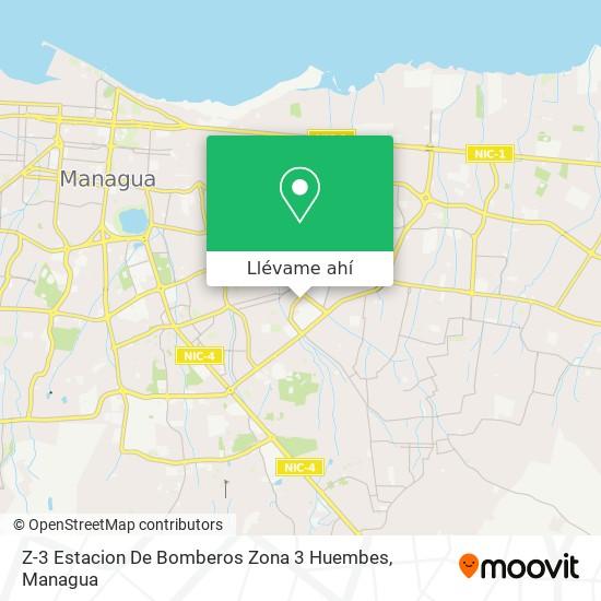 Mapa de Z-3 Estacion De Bomberos  Zona 3  Huembes