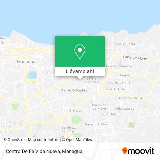 Mapa de Centro De Fe Vida Nueva
