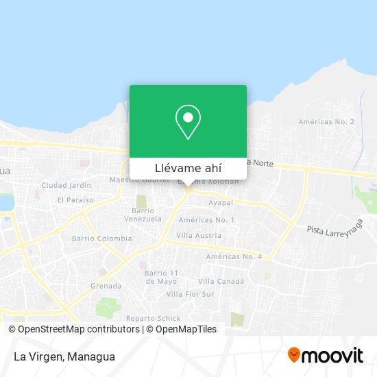 Mapa de La Virgen