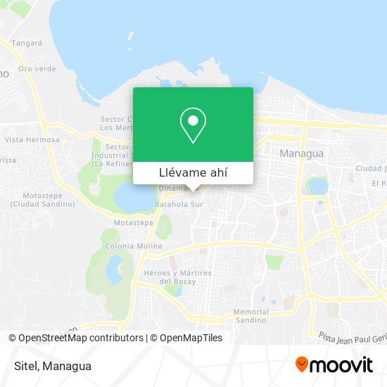 Mapa de Sitel