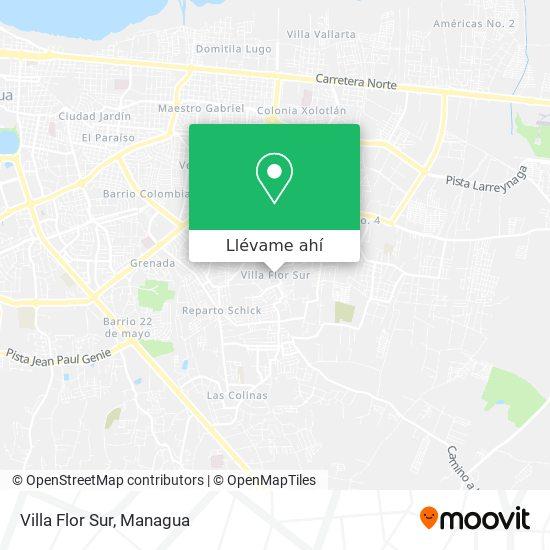 Mapa de Villa Flor Sur