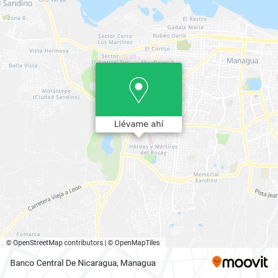 Mapa de Banco Central De Nicaragua