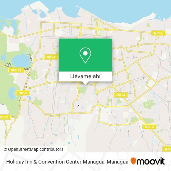 Mapa de Holiday Inn & Convention Center Managua