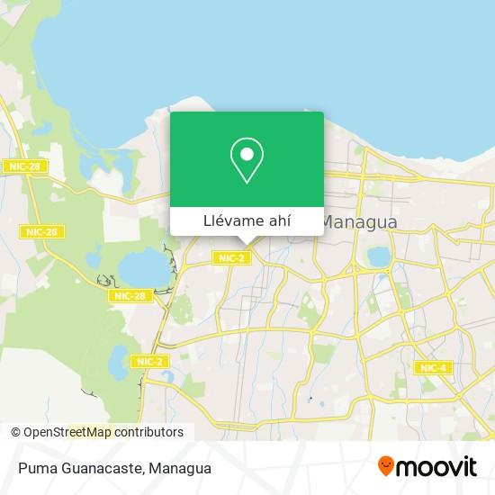 Mapa de Puma Guanacaste