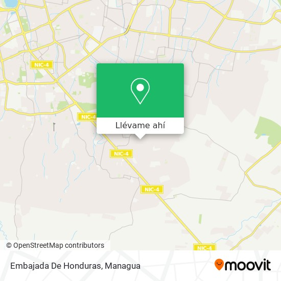 Mapa de Embajada De Honduras