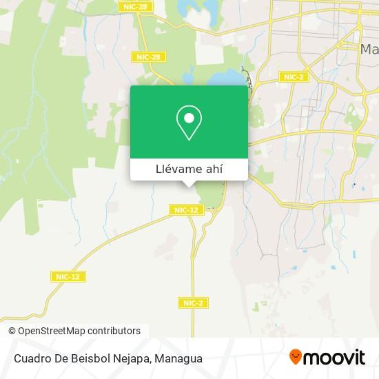 Mapa de Cuadro De Beisbol Nejapa