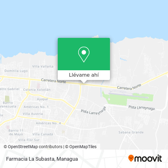 Mapa de Farmacia La Subasta