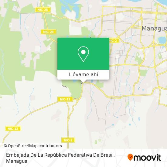 Mapa de Embajada De La República Federativa De Brasil