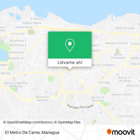 Mapa de Restaurant El Metro De Carne