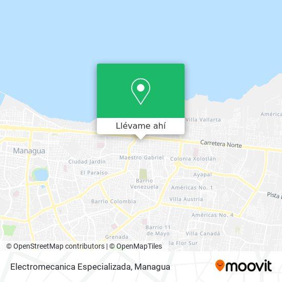 Mapa de Electromecanica Especializada
