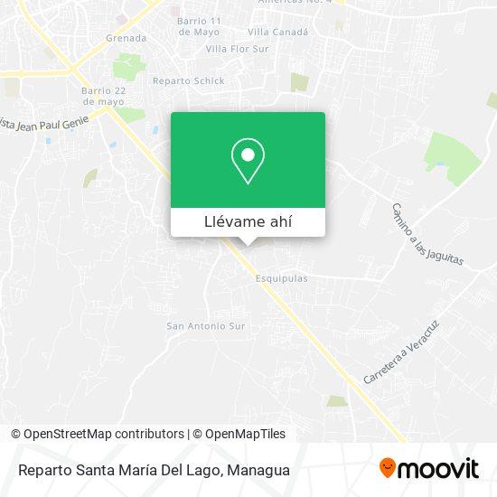Mapa de Reparto Santa María Del Lago