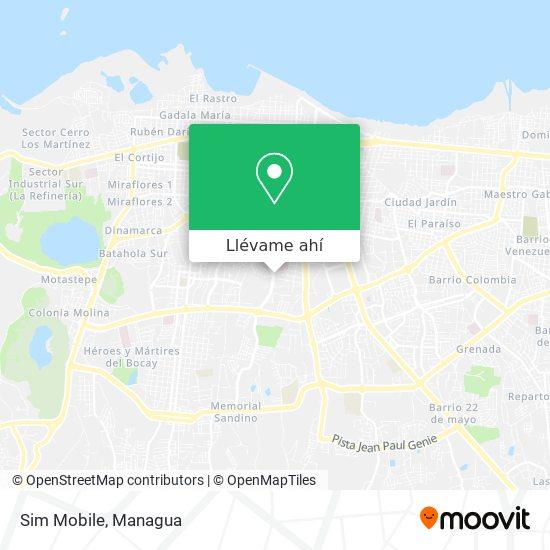 Mapa de Sim Mobile