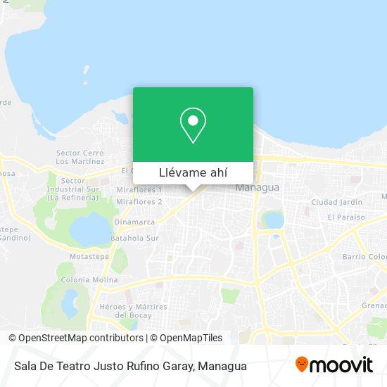 Mapa de Sala De Teatro Justo Rufino Garay