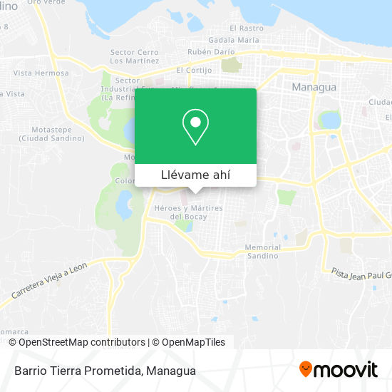 Mapa de Barrio Tierra Prómetida