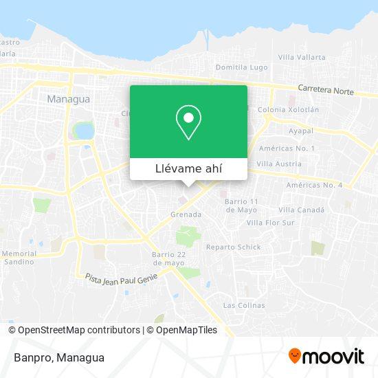 Mapa de Banpro