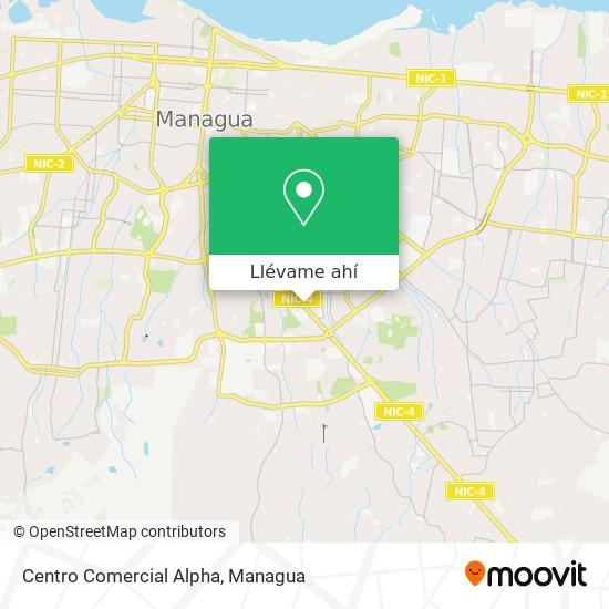 Mapa de Centro Comercial Alpha
