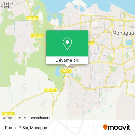Mapa de Puma - 7 Sur