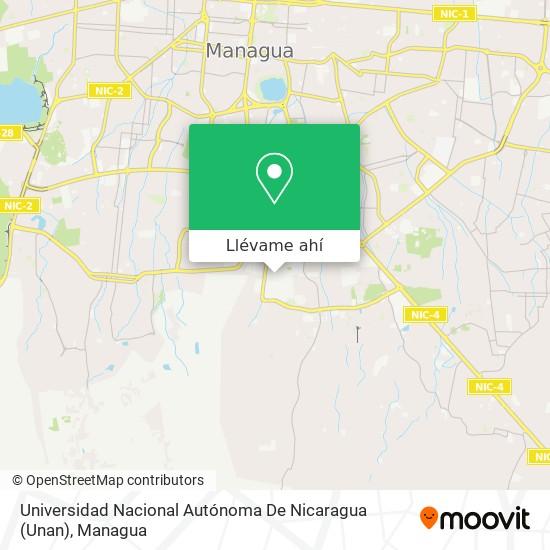 Mapa de Universidad Nacional Autónoma De Nicaragua (Unan)