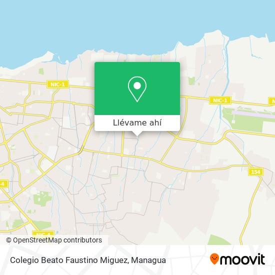 Mapa de Colegio Beato Faustino Miguez