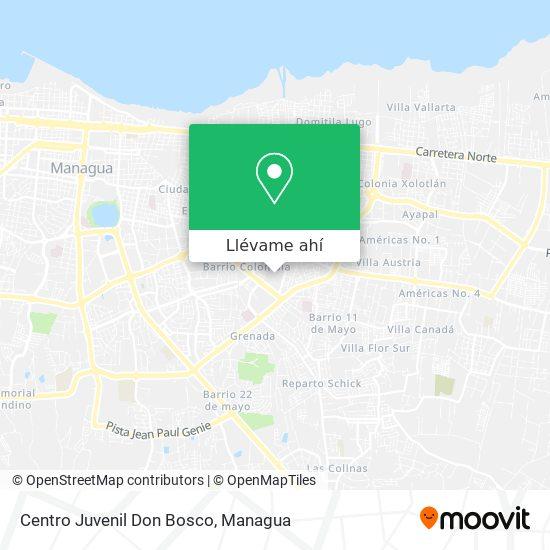 Mapa de Centro Juvenil Don Bosco
