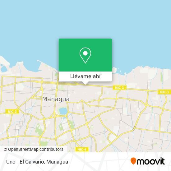 Mapa de Uno - El Calvario
